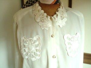 100% Fashion Blouse met lange mouwen room Polyamide
