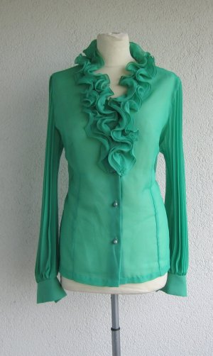 Wunderschöne Bluse Plissee-Ärmel - 90er True Vintage Damenbluse