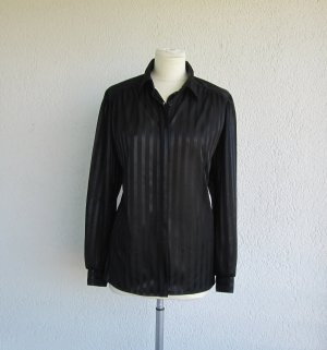 Long Sleeve Blouse black polyester
