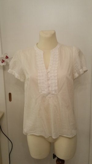 Ann Taylor Short Sleeved Blouse white cotton