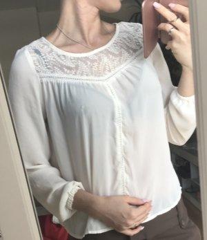 Wunderschöne Bluse von h&m mit Spitze in Größe 34