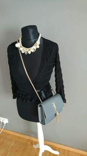Mango Wraparound Blouse black
