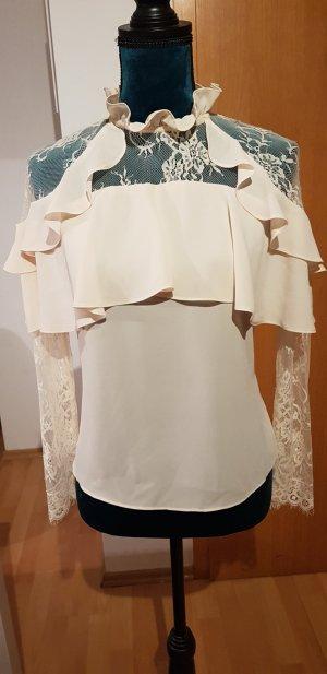 Vera & Lucy Lace Blouse natural white mixture fibre