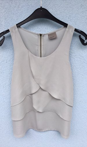 100% Fashion Sleeveless Blouse light grey-silver-colored