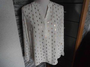 Wunderschöne Bluse weiß mit gold Gr. 36 Janina