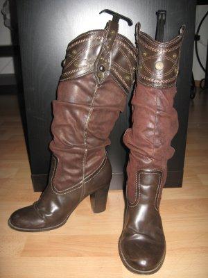 Botas altas marrón Imitación de cuero
