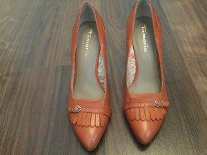 Tamaris High Heels cognac-coloured leather