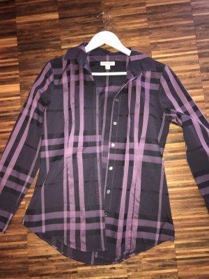 Wunderschöne Burberry Bluse in Purple Check