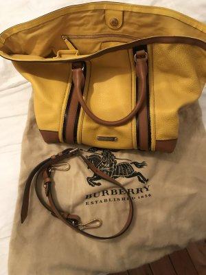 Burberry Satchel yellow-cognac-coloured leather