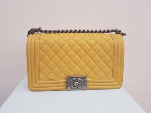 Chanel Handbag yellow leather