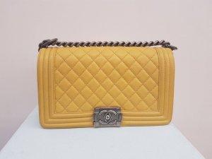 Chanel Bolso amarillo Cuero