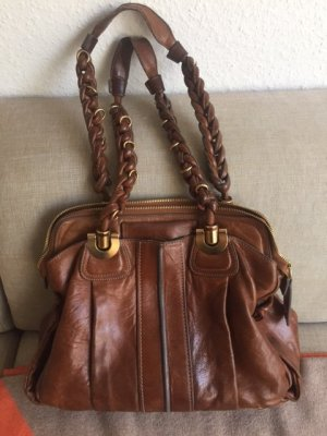 Chloé Carry Bag brown-cognac-coloured leather