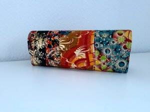 Wunderschöne Clutch African Material Handgemacht