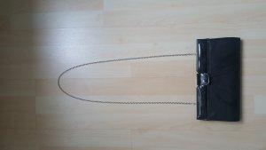 wunderschöne Clutch schwarz mit abnehmbarer Kette 28 x 15 cm Handtasche Ball Cocktail Party elegant schwarz Business