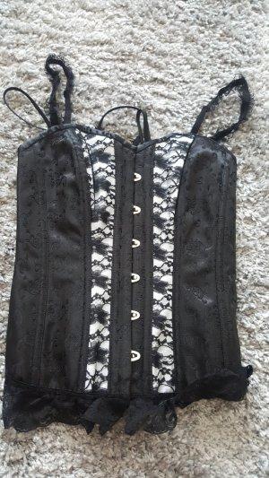 Corsage white-black