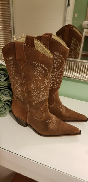 Western Boots brown suede