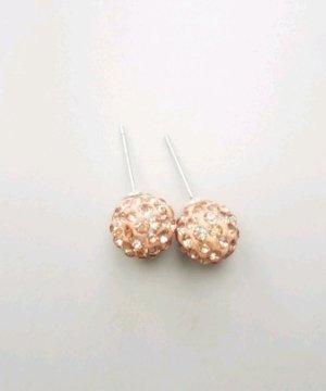 wunderschöne cremefarbene Ohrringe mit Steinchen besetzt