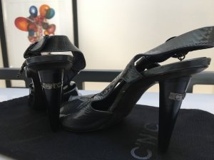 Costume National High Heel Sandal anthracite leather