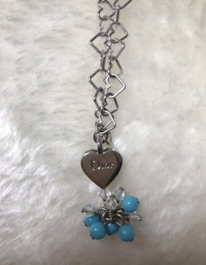 Christian Dior Collier Necklace silver-colored-light blue