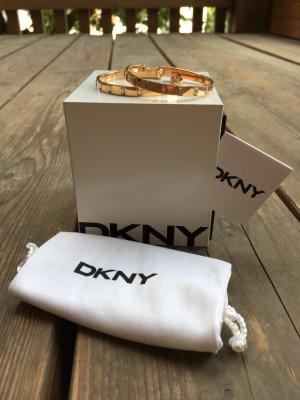 Wunderschöne DKNY Creolen - Roségold / Silber
