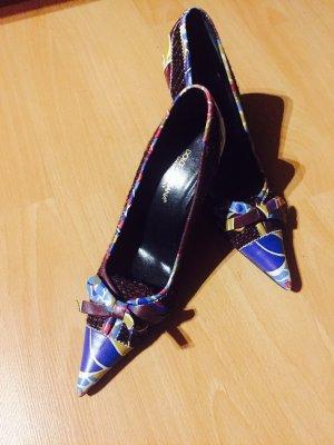 Wunderschöne Dolce & Gabbana Pumps Schleife bunt Gr. 36,5