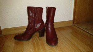 """Wunderschöne dunkelrote Stiefeletten """"socks boots"""""""