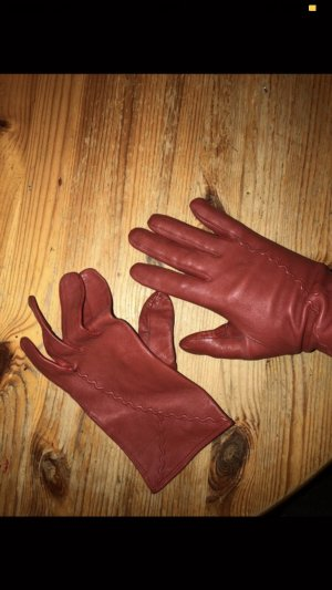 Leather Gloves red-dark red