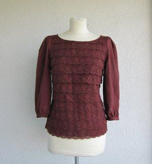 H&M Kanten blouse veelkleurig Polyester
