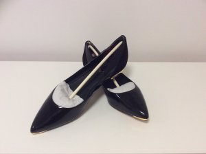 Ted baker Patent Leather Ballerinas black leather