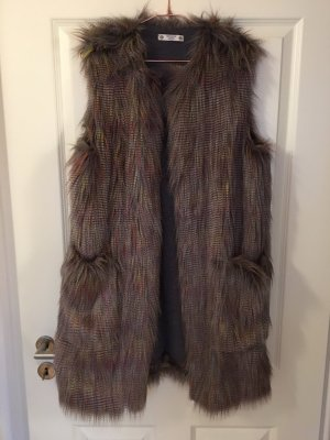 Fur vest multicolored polyacrylic