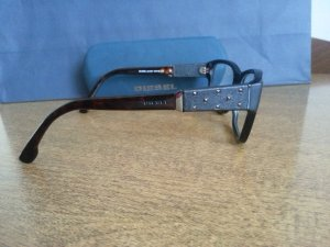 Diesel Ovale zonnebril zwart-zilver