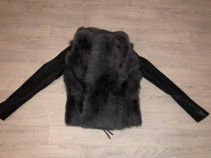 Marc Cain Giacca di pelliccia grigio scuro-grigio