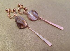 Wunderschöne Filigrane Vintage Echt Muschel Clip Ohrringe NEU