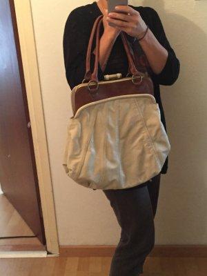 Wunderschöne Fiorelli Handtasche beige mit Braun Shopper