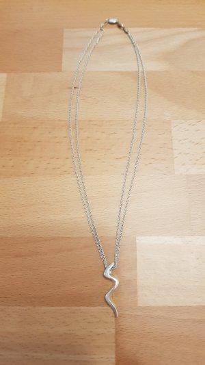 wunderschöne Fossil Kette 925 Silber
