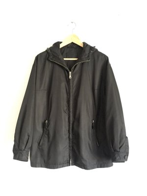 Prada Between-Seasons Jacket black-silver-colored nylon