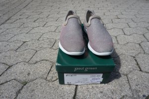 Paul Green Slip-on Sneakers silver-colored mixture fibre