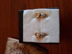 Wunderschöne Gold 585 Brillanten Ohrstecker