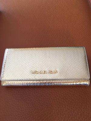 wunderschöne goldene Lederbörse von Michael Kors