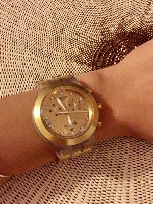Wunderschöne goldene Swatch Uhr