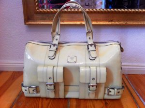 MCM Carry Bag cream leather