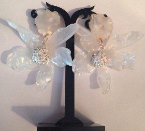 Wunderschöne Große Vintage Luxus Statement Clip Ohrringe Blüten Highlight!! Neu