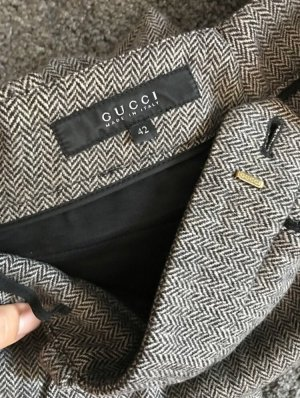 Gucci Woolen Trousers grey brown