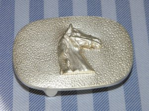 Belt Buckle silver-colored real silver