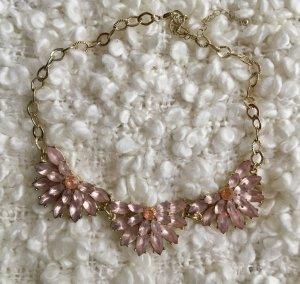 Wunderschöne H&M Statement-Kette, Kette Gold mit Blüten in Rosa, super Zustand