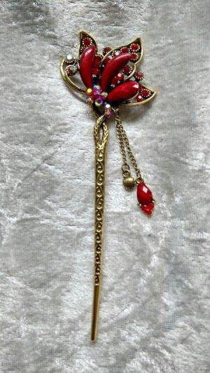 Spilla per capelli bronzo-rosso mattone