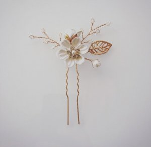 Hair Pin white-gold-colored