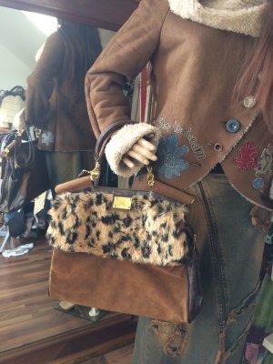 Wunderschöne Handtasche mit Kunstfell