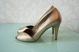 Wunderschöne Heels in zartem Gold Gr. 40