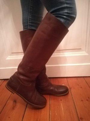 Wunderschöne hohe Stiefel von Shabbies Amsterdam Gr. 39 Braun